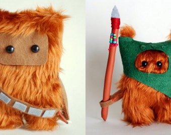 Star Wars Ewok Dark Green and Chewie