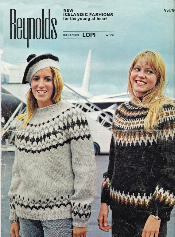 Icelandic Lopi Two Sweater Patterns Hat Pdf Etsy