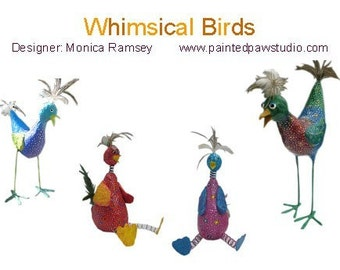 How to Make Whimsical Paper Mache Birds