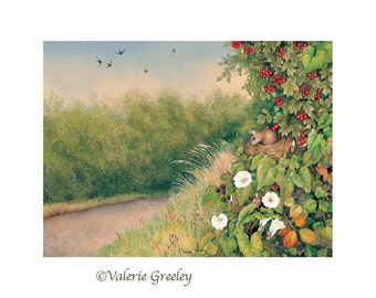 Down the Lane in August print
