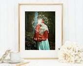 The High Priestess Tarot Art Print 8x10 5x7 4x6 Canvas Print STAR MS