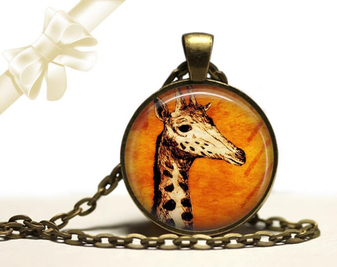 Giraffe Necklace brass Pendant Necklace Free Shipping Gifts for her