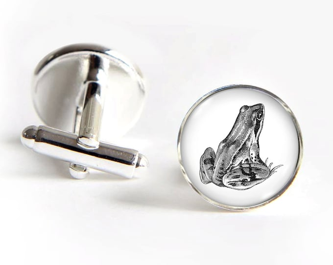 FROG Cufflinks silver 18mm cuff links Gifts for him