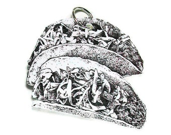 TACOS Necklace Small Pendant Gifts for her