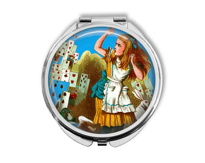 Alice In Wonderland Compact Mirror Pocket Mirror Large Gifts for her
