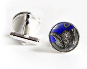 Curious OCTOPUS Cufflinks silver 18mm cuff links Gifts for him