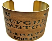 Ouija Board cuff bracelet brass Gifts for her