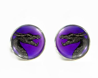 Dragon small post stud earrings Stainless steel hypoallergenic 12mm Gifts for her