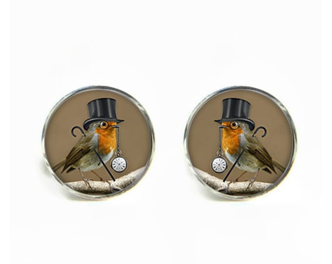 Dandy Bird small post stud earrings Stainless steel hypoallergenic 12mm Gifts for her