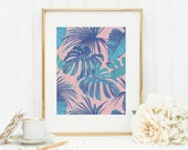 Monstera deliciosa Art Print 8x10 5x7 4x6 Canvas Print STAR MS