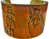 Inter Species FOX FAMILY cuff bracelet brass Free Shipping to USA Gifts for her
