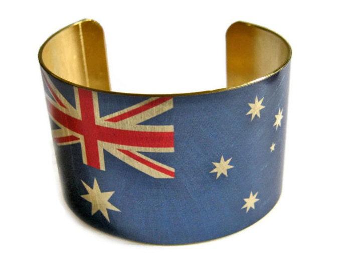 Australia FLAG cuff bracelet Australian Brass Heritage Gifts for her