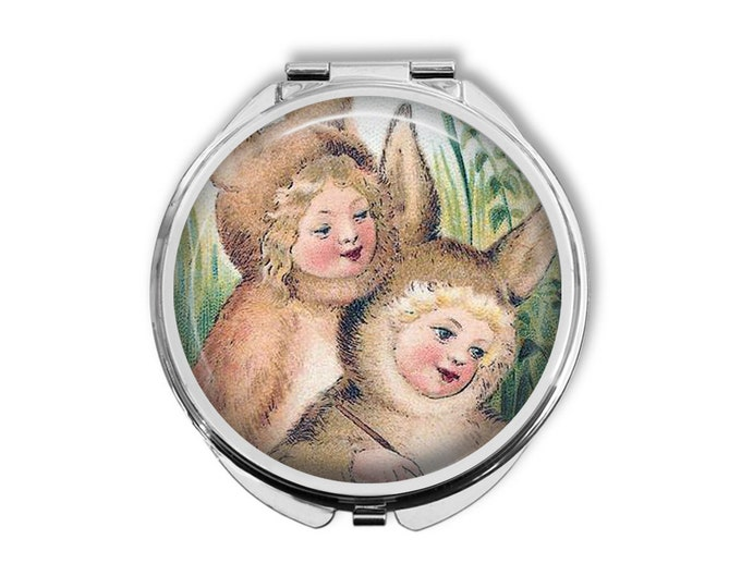 Bunny Kids Compact Mirror Pocket Mirror Large Gifts for her