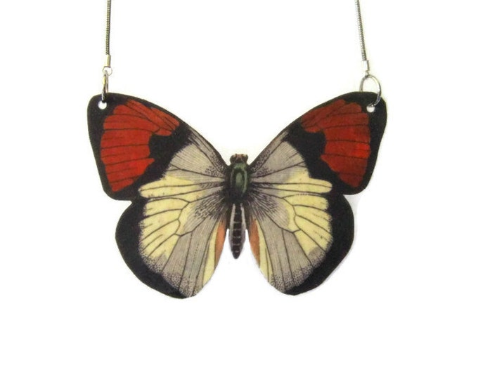 Red Wing Butterfly Pendant Necklace Large or Small Gifts for her