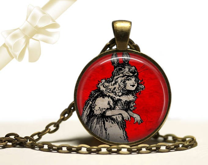 Rabbit Girl Necklace brass Pendant Necklace Free Shipping Gifts for her