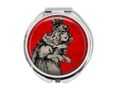 Rabbit Girl Compact Mirror Pocket Mirror Large