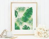 Plant Goddess Art Print 8x10 5x7 4x6 Canvas Print STAR MS