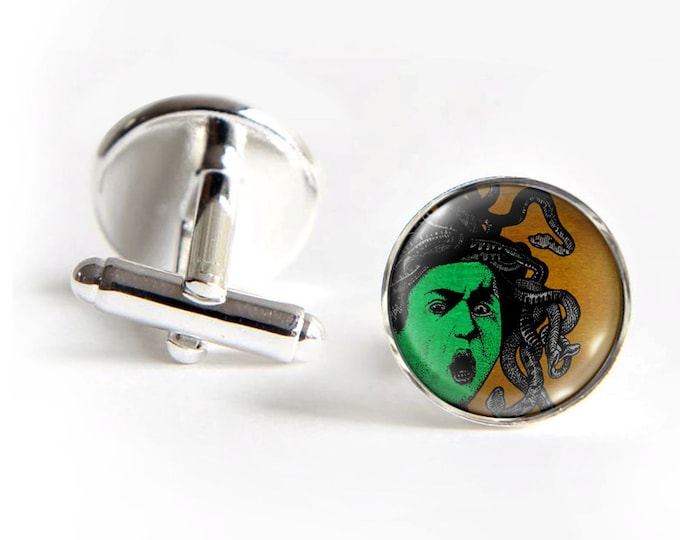 MEDUSA Cufflinks silver 18mm cuff links Gifts for him