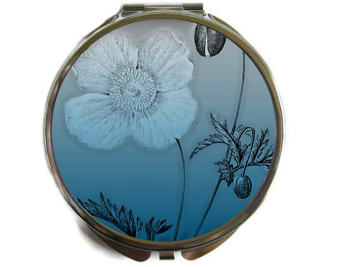 Ombre Poppy Compact Mirror Pocket Mirror Large