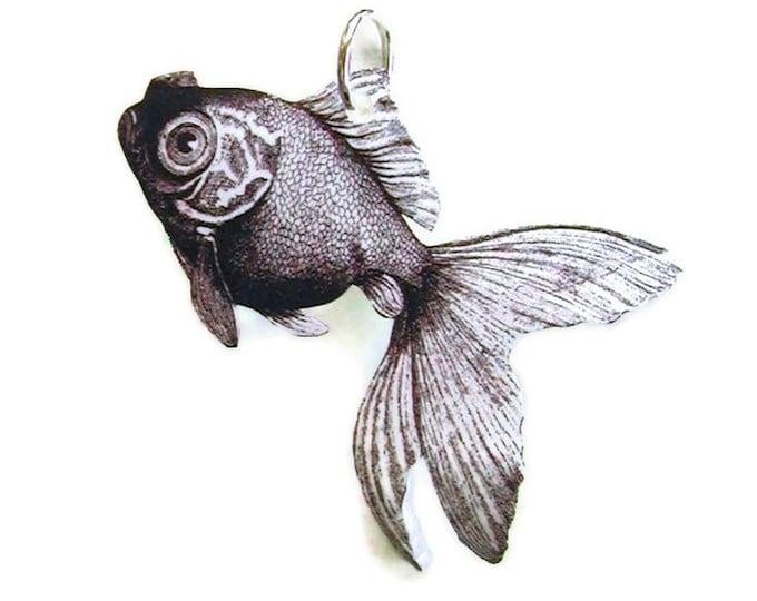 Goldfish Necklace Small Pendant Gifts for her