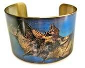 Vampire Bat cuff bracelet brass Gifts for her
