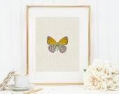 Butterfly in Orange Art Print 8x10 5x7 4x6 Canvas Print STAR MS