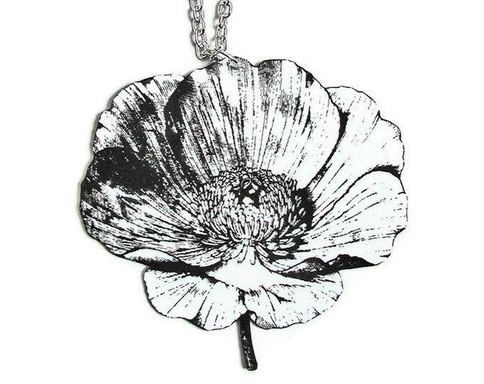 WILD POPPY Large Pendant Necklace Gifts for her