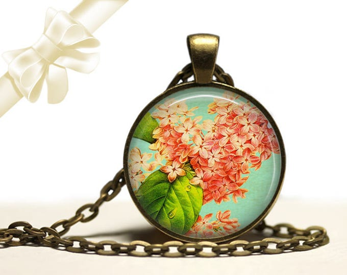 Lilac Necklace brass Pendant Necklace Free Shipping Gifts for her
