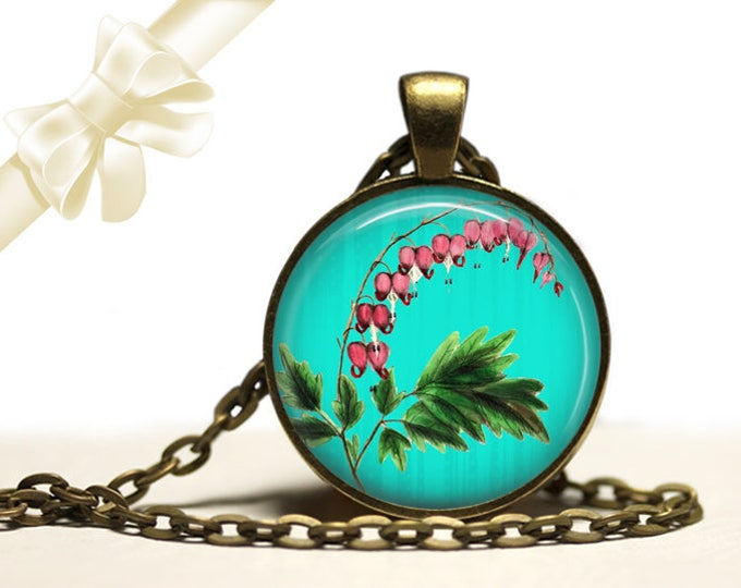 Bleeding Heart brass Pendant Necklace Free Shipping Gifts for her