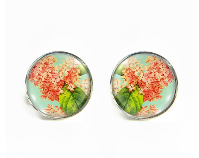 Lilacs small post stud earrings Stainless steel hypoallergenic 12mm Gifts for her