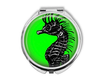Seahorse Compact Mirror Pocket Mirror Large