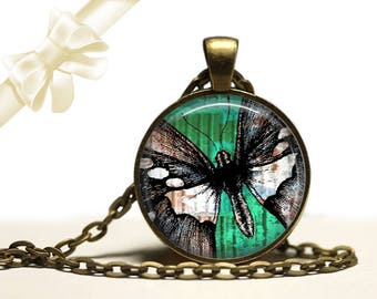 Butterfly brass Pendant Necklace Free Shipping Gifts for her