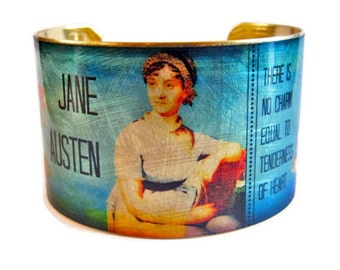 Jane Austen Emma quote cuff bracelet brass Gifts for her