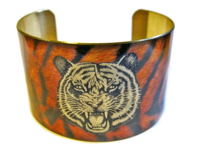 TIGER cuff bracelet brass Gifts for her