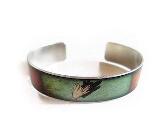 Shadow Puppet WOLF BIRD DEER cuff bracelet skinny thin
