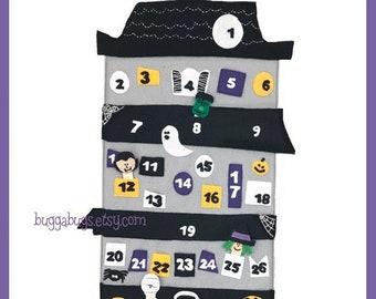 HALLOWEEN ADVENT - PDF Pattern (Advent Calendar Wall Hanging, Witch, Frankenstein, Dracula, Mummy)