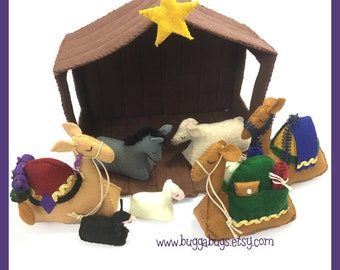 NATIVITY Animals & Stable- PDF Doll Pattern (Stable, Camels, Sheep, Cow, Donkey)