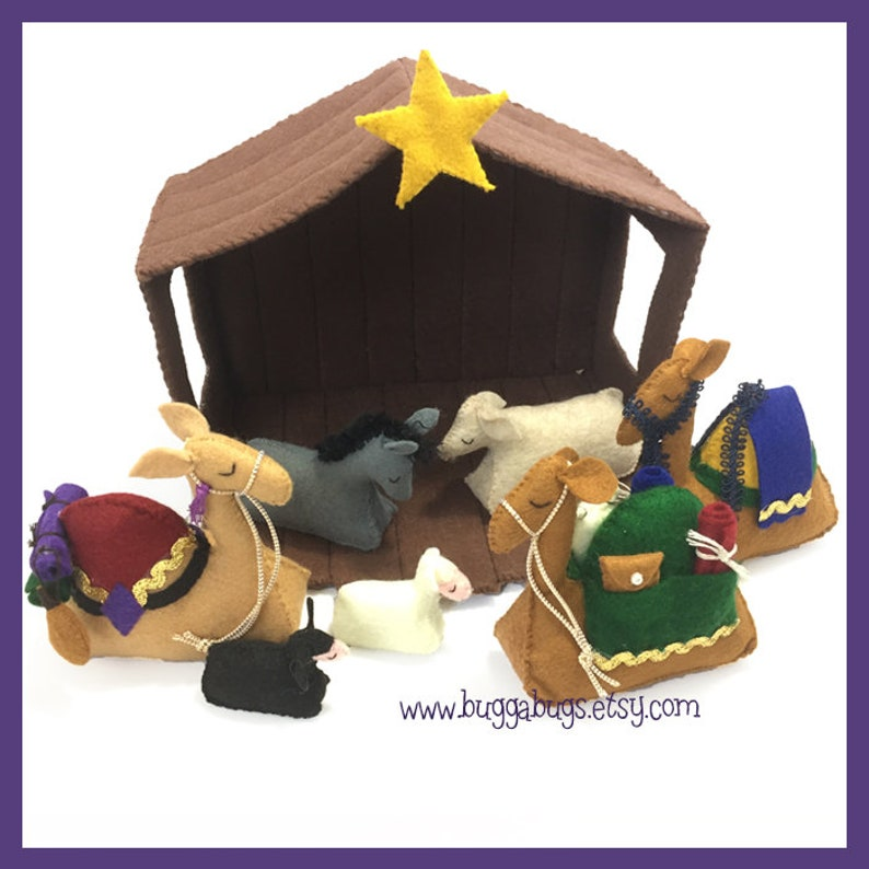 NATIVITY Animals & Stable PDF Doll Pattern Stable Camels image 0