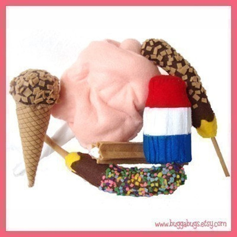COUNTY FAIR Treats  PDF Felt Food Pattern Cotton Candy image 0