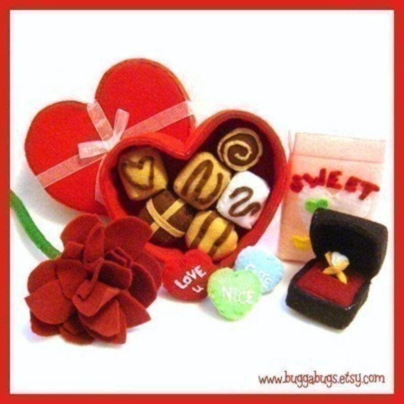 Be MY VALENTINE  PDF Felt Food Pattern Chocolate Box image 0