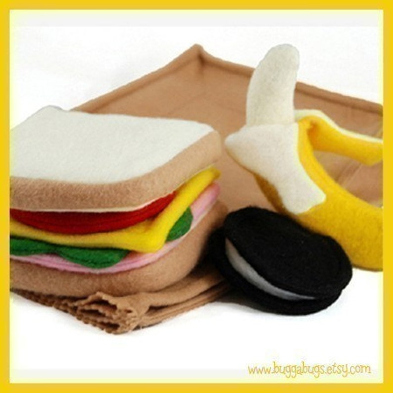 SACK LUNCH  PDF Felt Food Pattern Sandwich Chocolate image 0