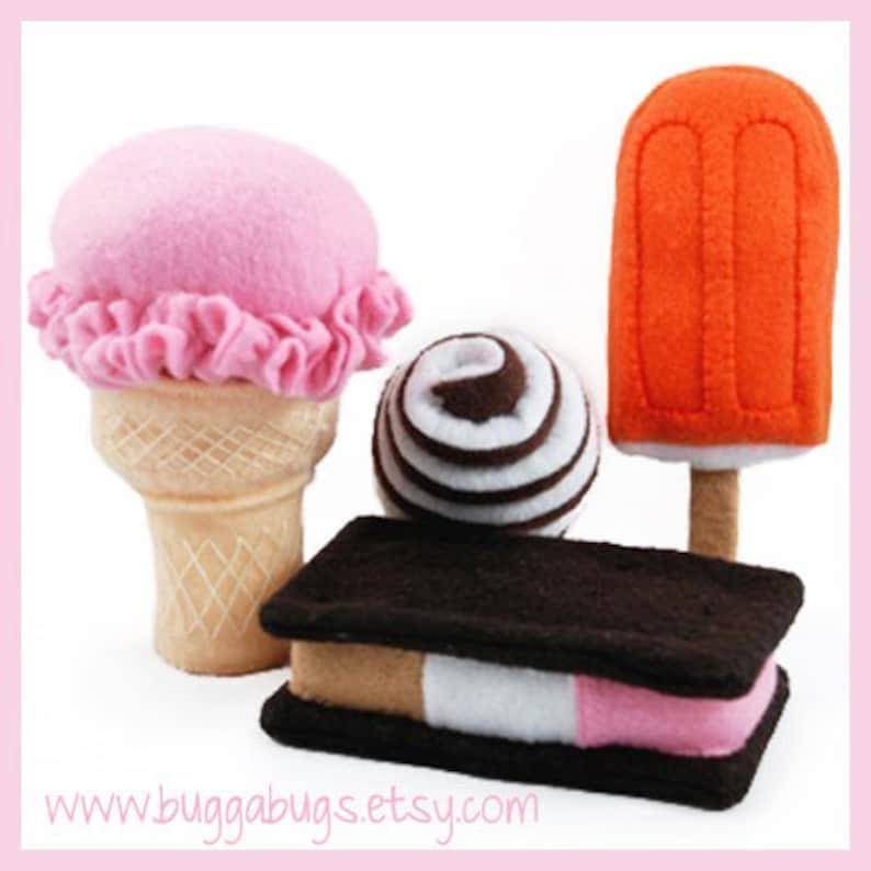 ICE CREAM  PDF Felt Food Pattern Ice Cream Cone Ice Cream image 0