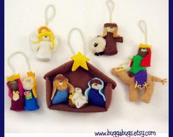 Nativity Ornaments - PDF Pattern (Baby Jesus, Mary, Joseph, Shepherd, Wisemen)