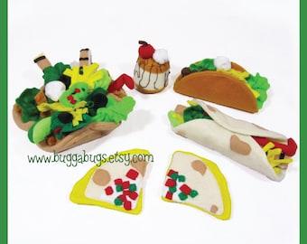 Taco Supreme -PDF Pattern (Hard/Soft Tacos, Taco Bowl, Quesadilla, Flan, Toppings)