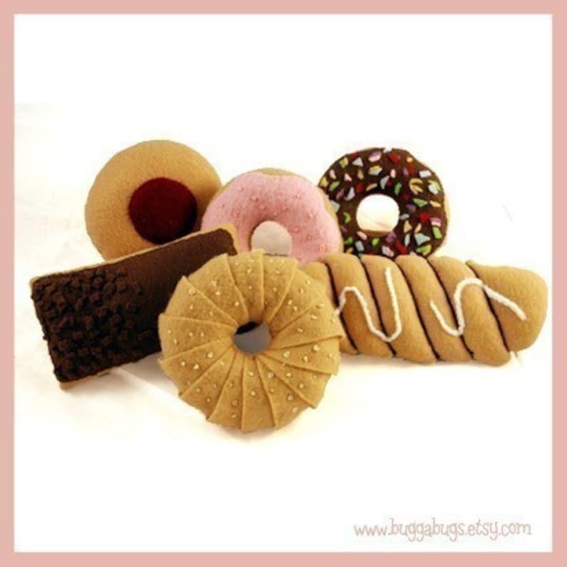 DOUGHNUTS  PDF Felt Food Pattern 6 Delicious Doughnuts image 0