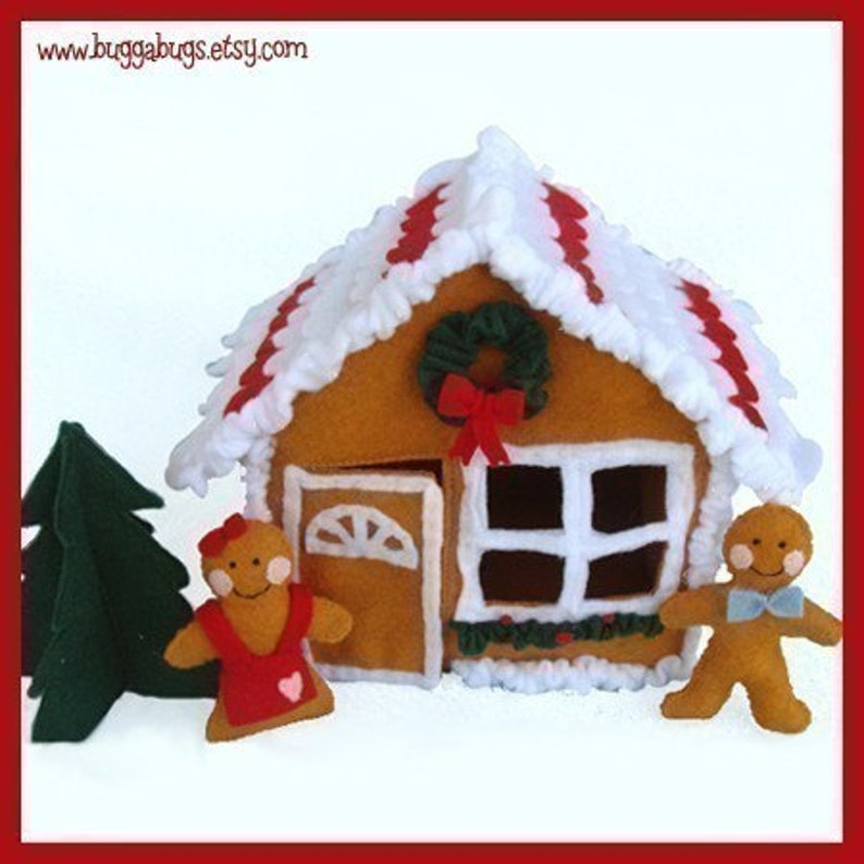 GINGERBREAD HOUSE  PDF Felt Food Pattern House Cookies image 0