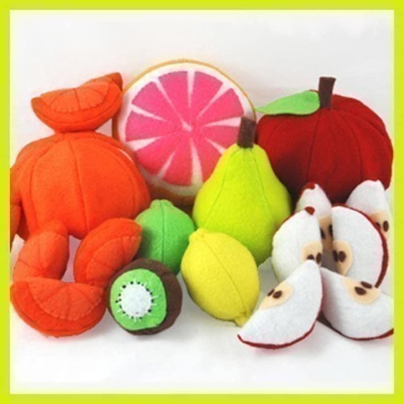 FUN FRUIT  PDF Felt Food Pattern Apple and Orange Slices and image 0