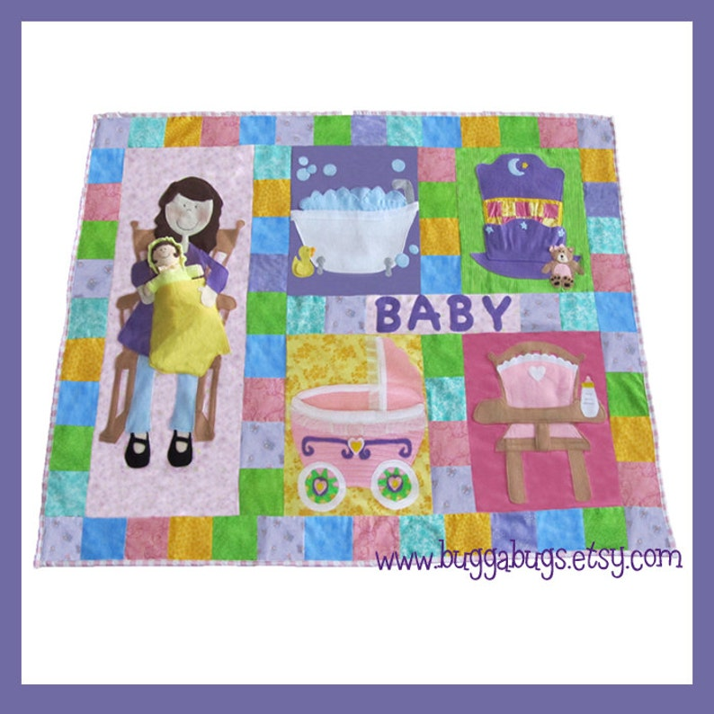 Interactive Doll Quilt  PDF Sewing Pattern Quilt and Baby image 0