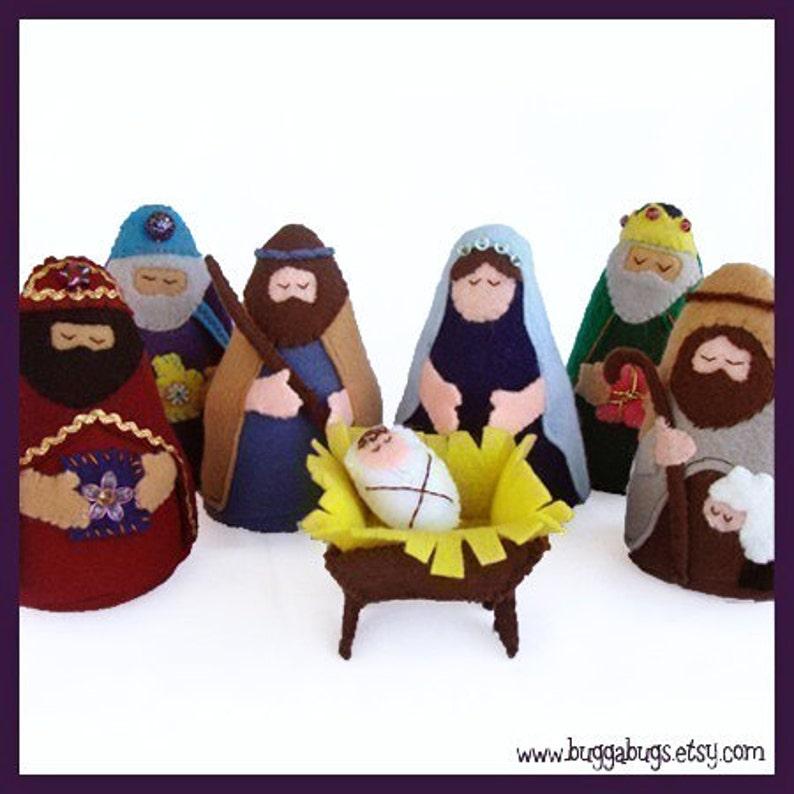 NATIVITY  PDF Doll Pattern Joseph Mary Jesus Wise Men image 0