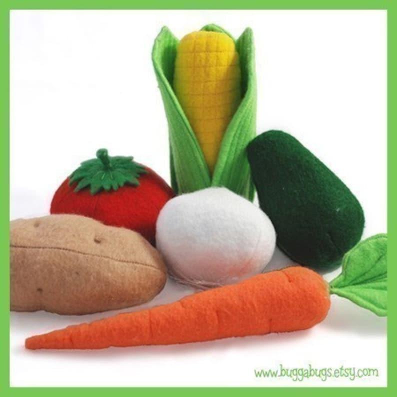 VEGETABLES  PDF Felt Food Pattern Corn on the Cob Onion image 0